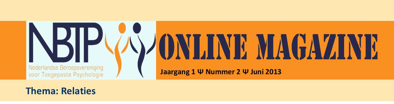 online magazine NBTP thema relaties, juni 2013